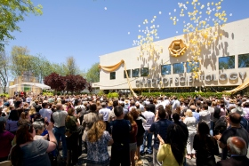Thousands of Scientologists from across the Bay Area celebrated the ribbon cutting of the Church of Scientology Stevens Creek in San Jose on June 9, 2012. The 57,000-square-foot Ideal Organization stands on a three-acre campus in the heart of Silicon Valley and was transformed to further meet the needs of the growing Scientology congregation.